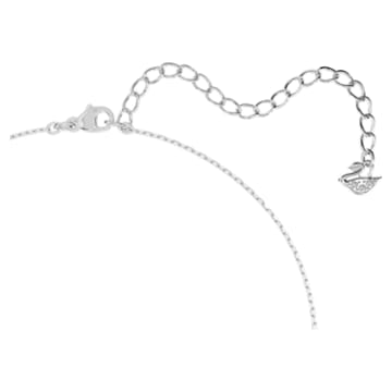 Attract Round-set, Wit, Rodium-verguld - Swarovski, 5113468