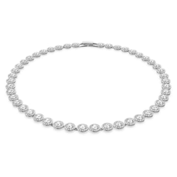 Collar Angelic, blanco, Baño de Rodio - Swarovski, 5117703