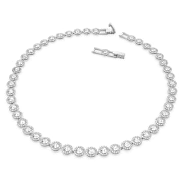 Angelic Necklace, White, Rhodium plated - Swarovski, 5117703