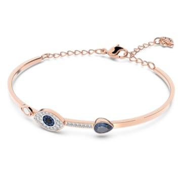 Bracelet-jonc Swarovski Symbolic, Œil porte-bonheur, Bleu, Finition mix de métal - Swarovski, 5171991