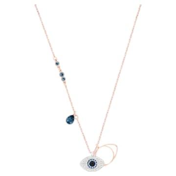 Swarovski Symbolic 链坠, Evil eye, 蓝色, 多种金属润饰 - Swarovski, 5172560
