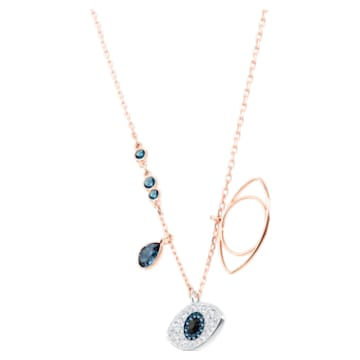 Pendentif Swarovski Symbolic, Œil porte-bonheur, Bleu, Finition mix de métal - Swarovski, 5172560
