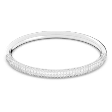 Bracciale rigido Stone, Bianco, Placcato rodio - Swarovski, 5184515