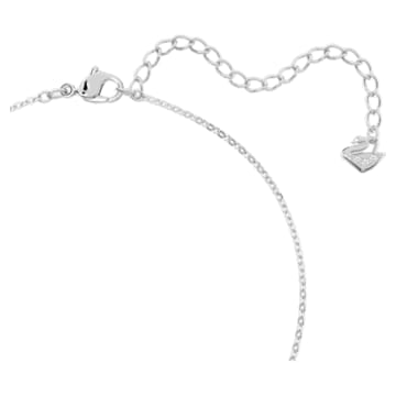 Creativity pendant, Circular, White, Rhodium plated - Swarovski, 5198686
