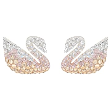 Swarovski Iconic Swan Серьги, Многоцветный Кристалл, Родиевое покрытие - Swarovski, 5215037