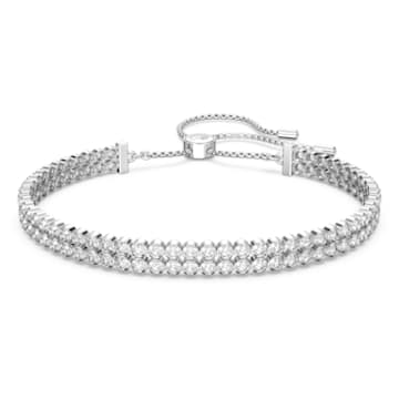 Subtle 手链, 白色, 镀铑 - Swarovski, 5221397
