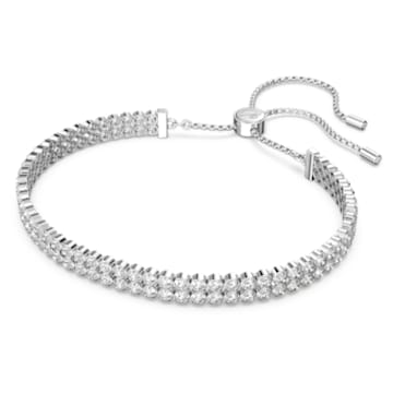 Subtle 手鏈, 白色, 鍍白金色 - Swarovski, 5221397
