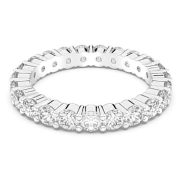 Vittore XL gyűrű, fehér, ródium bevonattal - Swarovski, 5237742