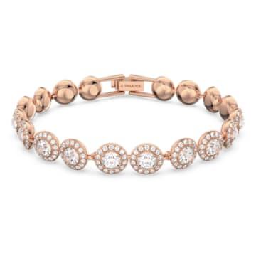 Bracelet Angelic, Rond, Blanc, Métal doré rose - Swarovski, 5240513