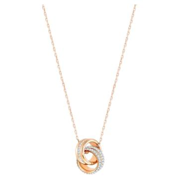 Pendente Further, piccolo, Bianco, Placcato color oro rosa - Swarovski, 5240525