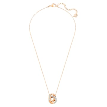 Further 链坠, 小码 , 白色, 镀玫瑰金色调 - Swarovski, 5240525