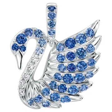 Mini Swan Pendant, Blue - Swarovski, 5250037