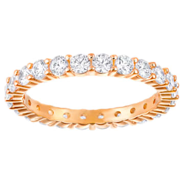 Vittore XL Ring, White, Rose-gold tone plated - Swarovski, 5257492
