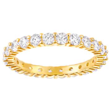 Vittore XL Ring, White, Gold-tone plated - Swarovski, 5257501