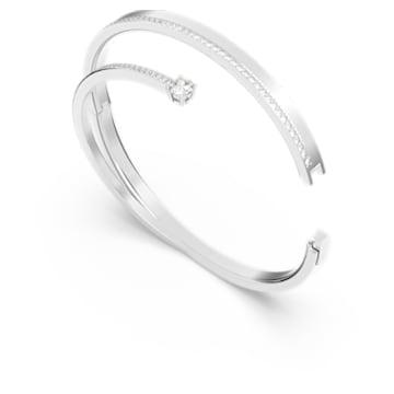 Bracelet-jonc Fresh, blanc, Métal rhodié - Swarovski, 5257561