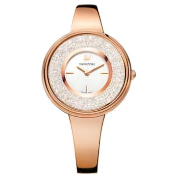 Orologio Crystalline Pure, Bracciale di metallo, bianco, PVD oro rosa - Swarovski, 5269250