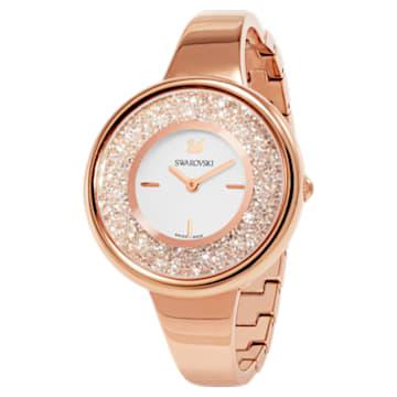 Reloj Crystalline Pure, Brazalete de metal, blanco, PVD en tono Oro Rosa - Swarovski, 5269250