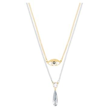 Gipsy Layered Necklace, Blue, Mixed plating - Swarovski, 5270083
