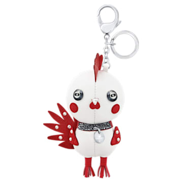 Rooster Pascal Bag Charm, Multi-coloured, Stainless steel - Swarovski, 5270975