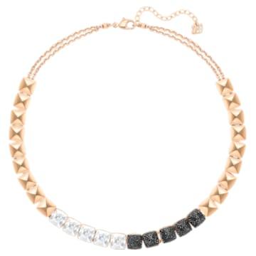 Glance Necklace, Multi-coloured, Rose-gold tone plated - Swarovski, 5272069