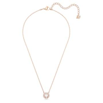 Swarovski Sparkling Dance Round Колье, Белый Кристалл, Покрытие оттенка розового золота - Swarovski, 5272364