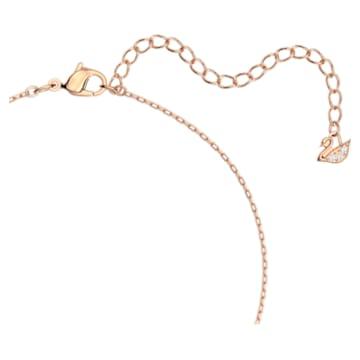 Swarovski Sparkling Dance Round Halskette, weiss, Rosé vergoldet - Swarovski, 5272364