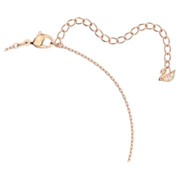 Swarovski Sparkling Dance Round Necklace, White, Rose-gold tone plated - Swarovski, 5272364