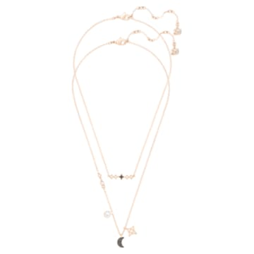 Swarovski Symbolic Halskette im Lagenlook, Set (2), Mond und Stern, Schwarz, Roségold-Legierungsschicht - Swarovski, 5273290