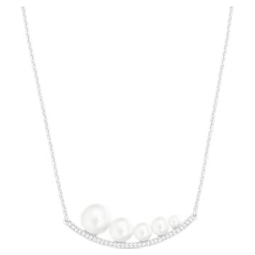 Fundamental 项链, 白色, 镀铑 - Swarovski, 5274299