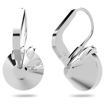 Bella V 穿孔耳环, 圆形切割, 白色, 镀铑 - Swarovski, 5292855