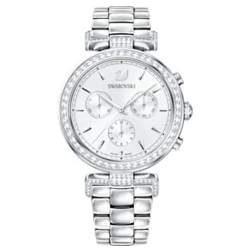 Era Journey-horloge, Metalen armband, Wit, Roestvrij staal - Swarovski, 5295363
