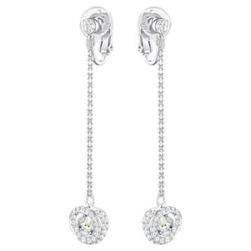 Generation Clip earrings, Blue, Rhodium plated - Swarovski, 5298024