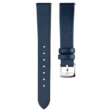 Bracelet de montre 16mm, Cuir, bleu, acier inoxydable - Swarovski, 5302282