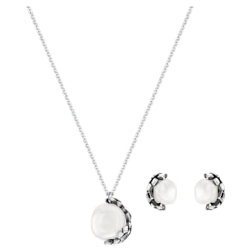 Has Set, White, Silver Plating - Swarovski, 5345336
