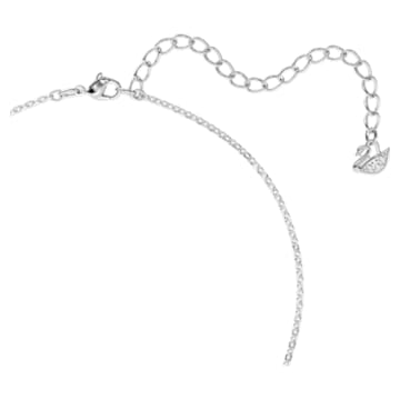 Swarovski ikonikus hattyú medálos nyaklánc, fekete, ródium bevonattal - Swarovski, 5347330
