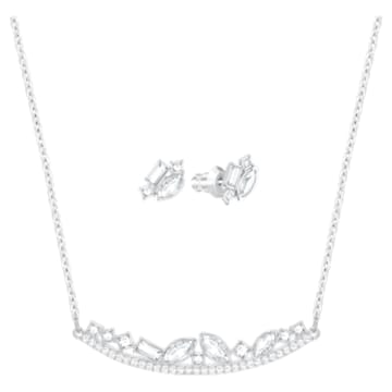 Henrietta Set, Small, White, Rhodium plating - Swarovski, 5351314