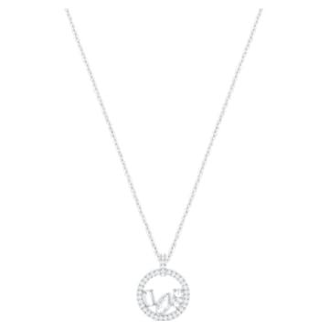 Henrietta Pendant, White, Rhodium plating - Swarovski, 5351322