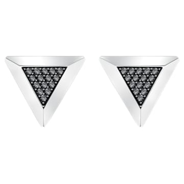 Gentleman Triangle Cufflinks, Gray, Mixed plating - Swarovski, 5352222