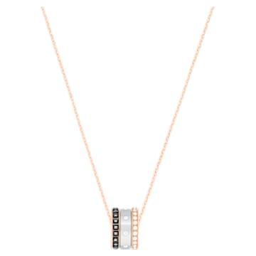Hint pendant, Black, Mixed metal finish - Swarovski, 5353666