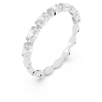 Vittore Marquise Ring, White, Rhodium plated - Swarovski, 5354786