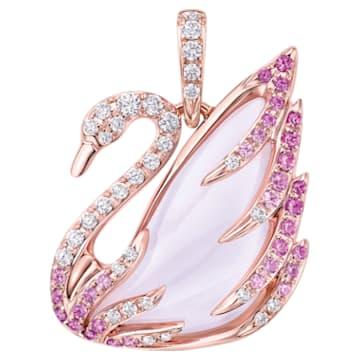 瑰丽天鹅18K玫瑰金芙蓉石粉紅蓝宝石钻石链坠 - Swarovski, 5362897