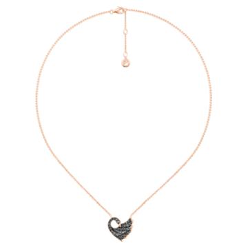 天鹅曼舞18K玫瑰金黑钻石项链 - Swarovski, 5362922