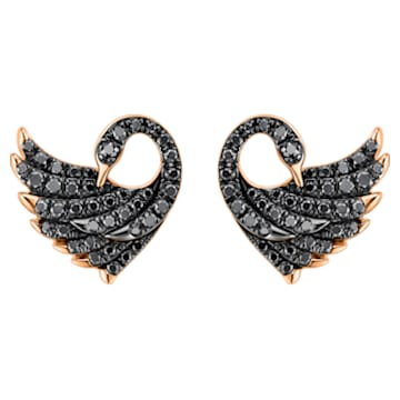 Dancing Swan Earrings - Swarovski, 5362923