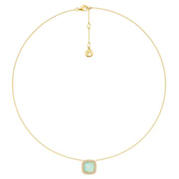 幸福舞台18K黃金绿玉髓钻石项链 - Swarovski, 5362972