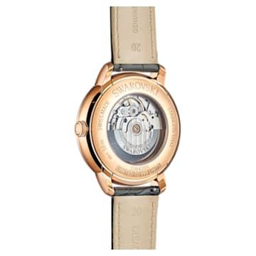 Atlantis限量版男士自动机械腕表, 真皮表带, 灰色, 玫瑰金色调 PVD - Swarovski, 5364203