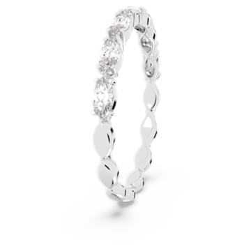 Vittore Marquise 戒指, 白色, 鍍白金色 - Swarovski, 5366579