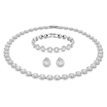 Angelic 项链套装, 白色, 镀铑 - Swarovski, 5367853