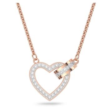 Lovely Halskette, Weiss, Roségold-Legierungsschicht - Swarovski, 5368540