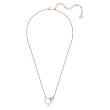 Lovely Halskette, weiss, Rosé vergoldet - Swarovski, 5368540