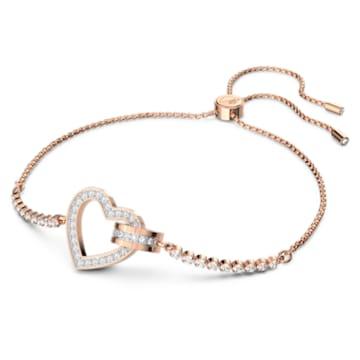 Lovely Armband, Weiss, Roségold-Legierungsschicht - Swarovski, 5368541